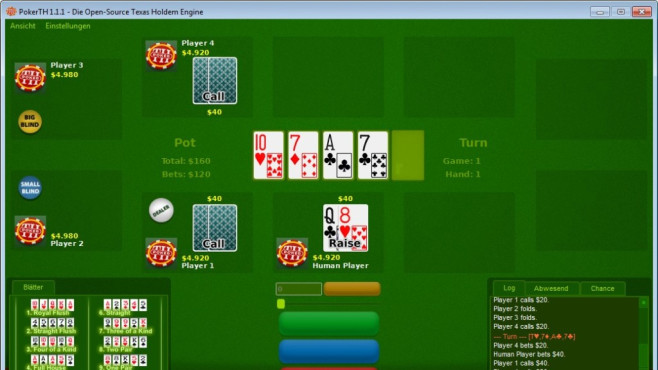 PokerTH Portable (Karten) © COMPUTER BILD