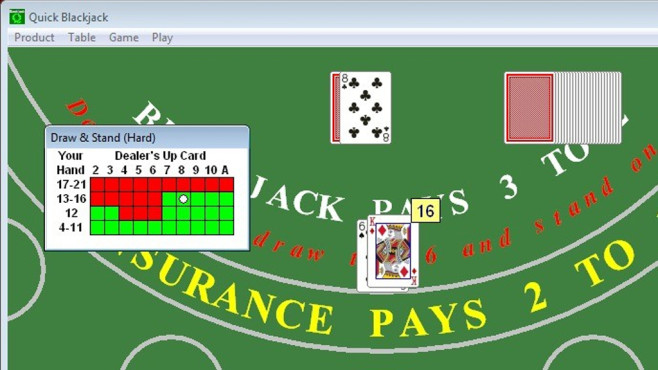 Quick Blackjack Portable (Karten) © COMPUTER BILD