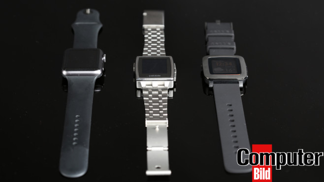 Apple Watch, Pebble Steel, Pebble Time © COMPUTER BILD