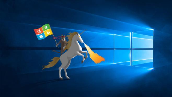Windows 10 Hero + Ninja Cat ©Microsoft