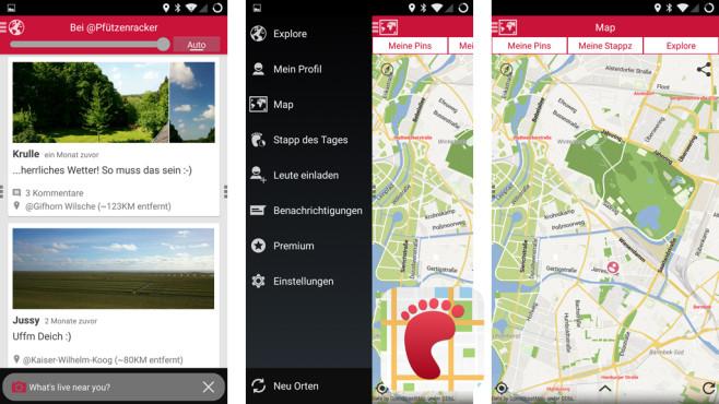 Stappz – Soziale GPS Reisekarte ©Iunera GmbH & Co. KG