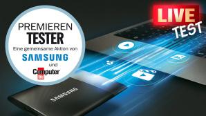 Leser-Live-Test Samsung SSD T1 ©Samsung, COMPUTER BILD