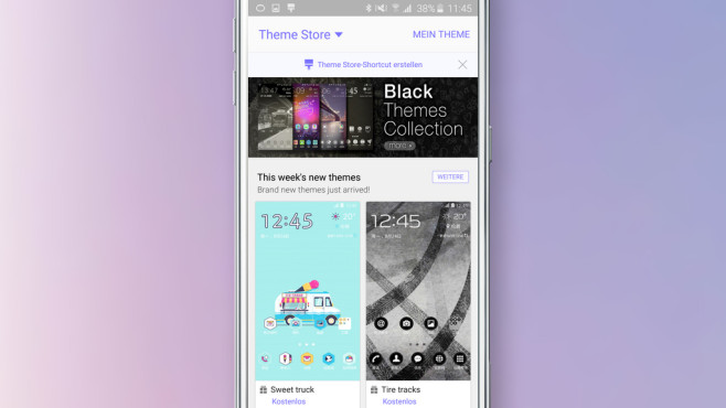 Samsung Theme Store Anleitung ©Samsung, COMPUTER BILD