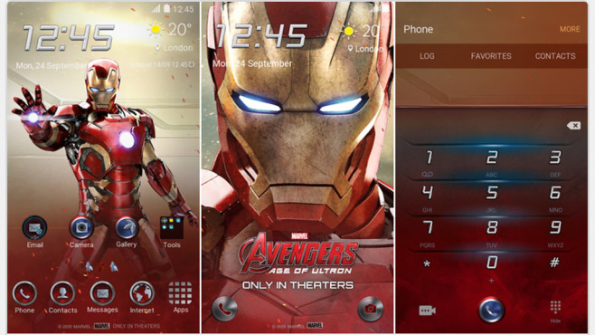 Iron Man © Samsung, Marvel