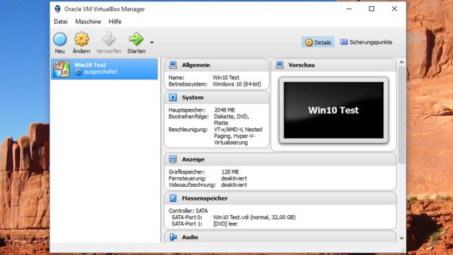 VirtualBox: Fremde Betriebssysteme nutzen ©COMPUTER BILD