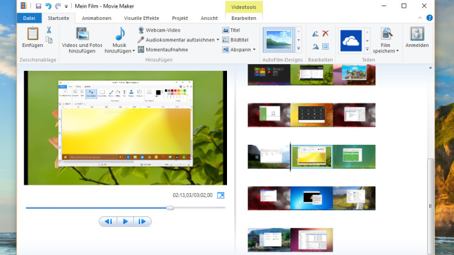 Windows Movie Maker: Videos erstellen, bearbeiten © COMPUTER BILD