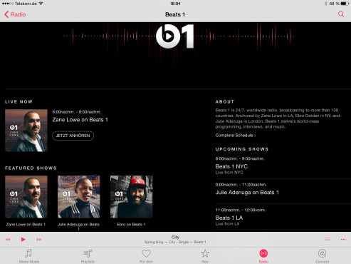 Beats 1-Streaming ohne Music-Abo © COMPUTER BILD