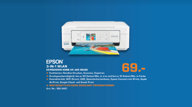 Epson Expression Home XP-425 © Saturn