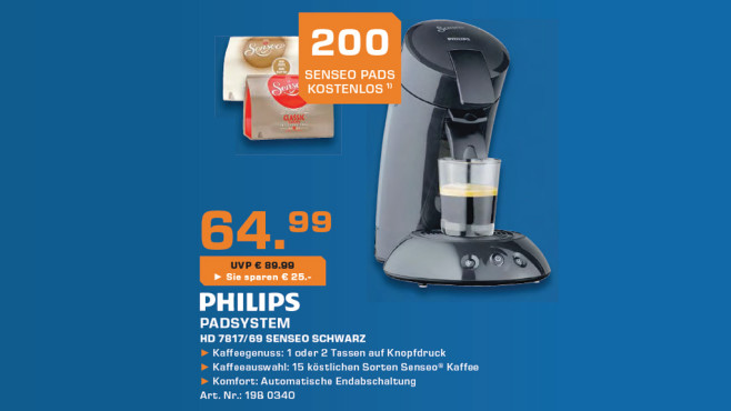 Philips Senseo Original HD 7817/69 © Saturn