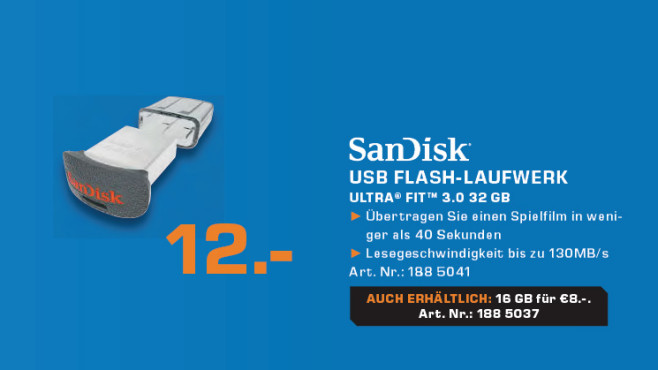 Sandisk Cruzer Fit 32GB © Saturn