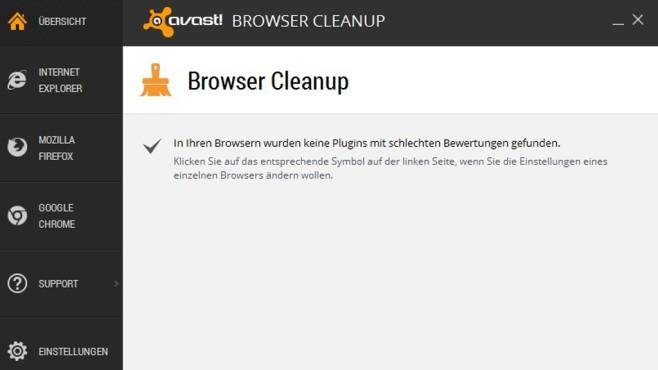 Platz 37: Avast Browser Cleanup (neu) ©COMPUTER BILD