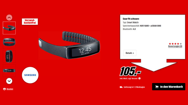 Samsung Gear Fit © Media Markt