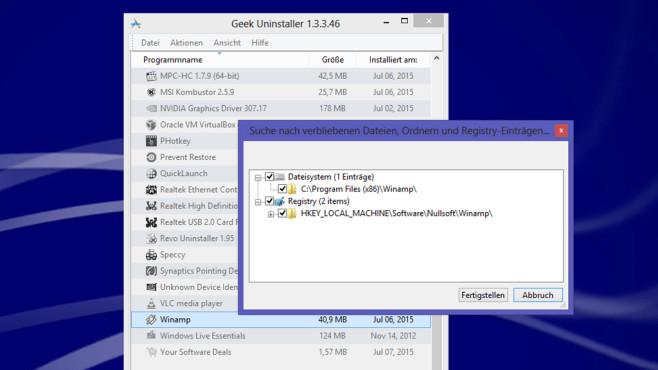 Geek Uninstaller: Schlankes Tool inklusive Suchfunktion ©COMPUTER BILD