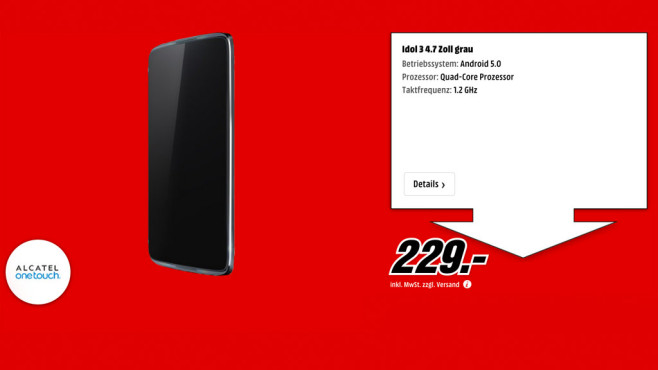 Alcatel One Touch Idol 3 (4.7) ©Media Markt