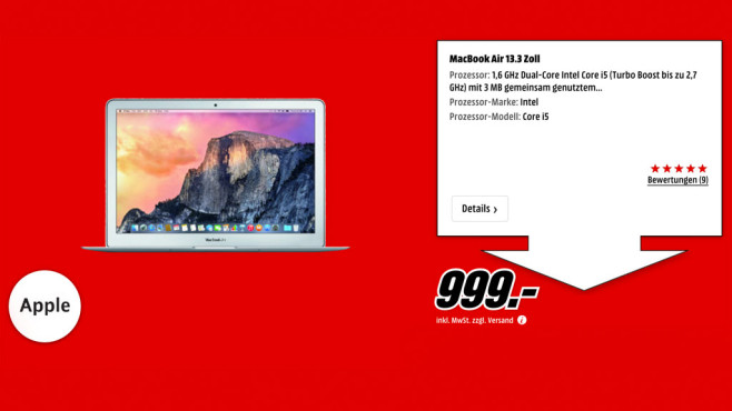 "Apple MacBook Air 13"" ©Media Markt"