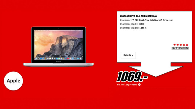 "Apple MacBook Pro 13"" © Media Markt"