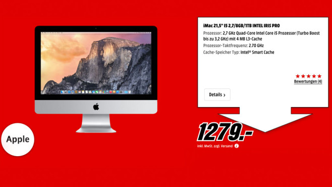 Apple iMac 21.5'' © Media Markt