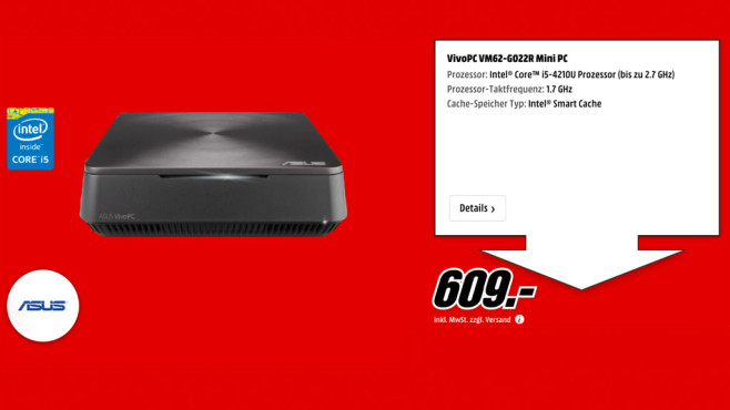 Asus Vivo PC VM62 ©Media Markt