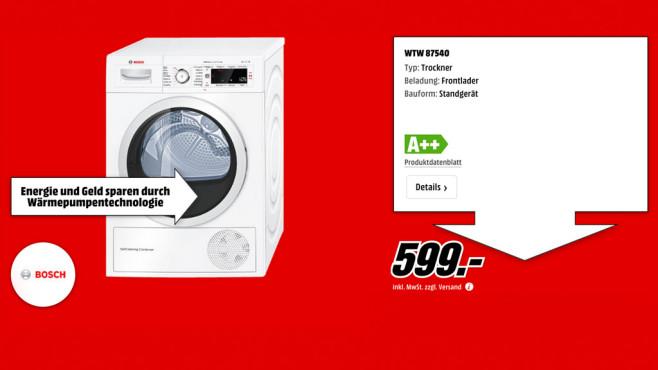 Bosch WTW87540 ©Media Markt