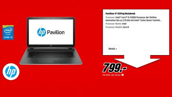 HP Pavilion 17-f237ng ©Media Markt