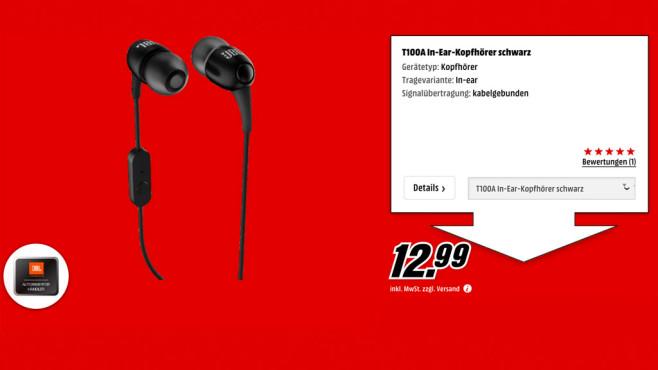 JBL T100A ©Media Markt
