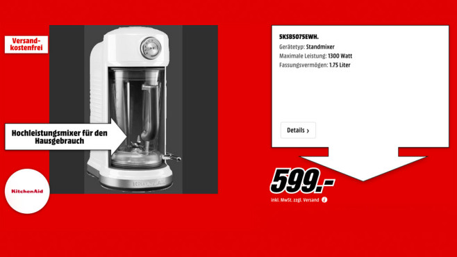 KitchenAid Artisan Magnetic Drive © Media Markt