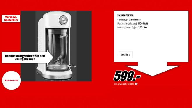 KitchenAid Artisan Magnetic Drive ©Media Markt