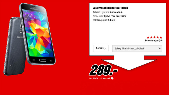 Samsung Galaxy S5 mini © Media Markt