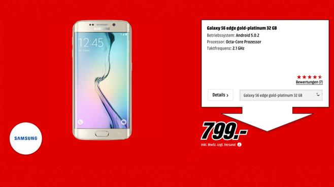 Samsung Galaxy S6 Edge ©Media Markt