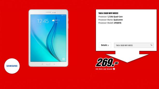 Samsung Galaxy Tab A 16GB WiFi ©Media Markt