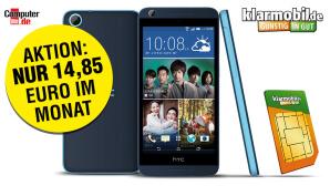 HTC-Smartphone & Allnet-Flat für nur 14,85 Euro im Monat!©Klarmobil, HTC, COMPUTER BILD