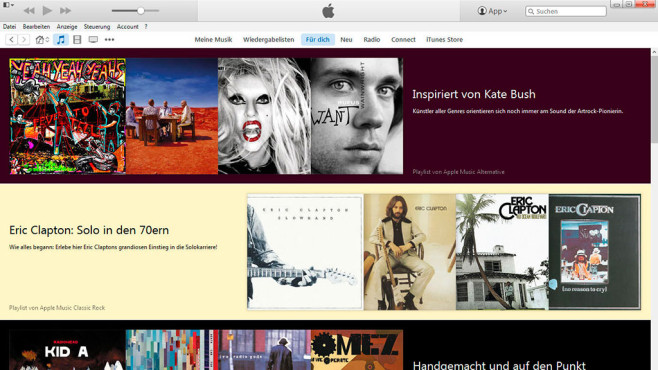 Platz 3: Apple Music © Screenshot: Apple/iTunes