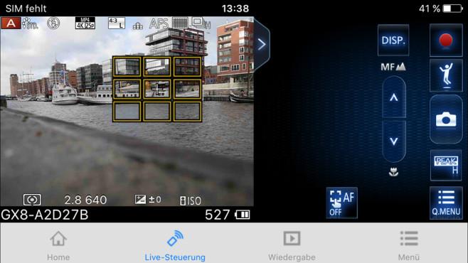 Panasonic Lumix GX8 App ©COMPUTER BILD