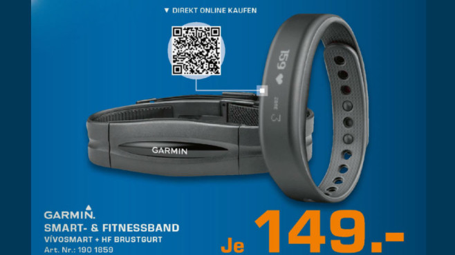 Garmin Vivosmart mit Brustgurt © Saturn
