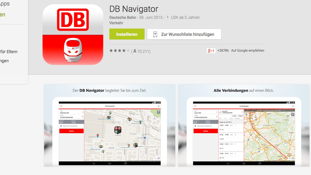 rger um neue db navigator android app computer bild. Black Bedroom Furniture Sets. Home Design Ideas