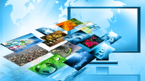 Hintergr�nde erkl�rt: Das passiert beim �ffnen einer Webseite PC, Router, DNS-Server, NAT und mehr: Daten durchwandern viele Stationen. ©Fotolia--Victoria-Television and internet production technology concept
