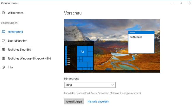 Dynamic Theme: Desktop-Wallpaper automatisch tauschen ©COMPUTER BILD