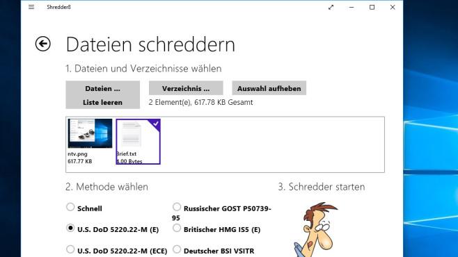 Schredder8: Dateien sicher löschen ©COMPUTER BILD
