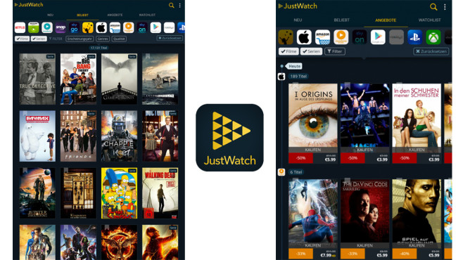 JustWatch – Filme & Serien © JustWatch GmbH