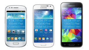Samsung Galaxy S3 Mini, S4 Mini, S5 Mini ©Samsung