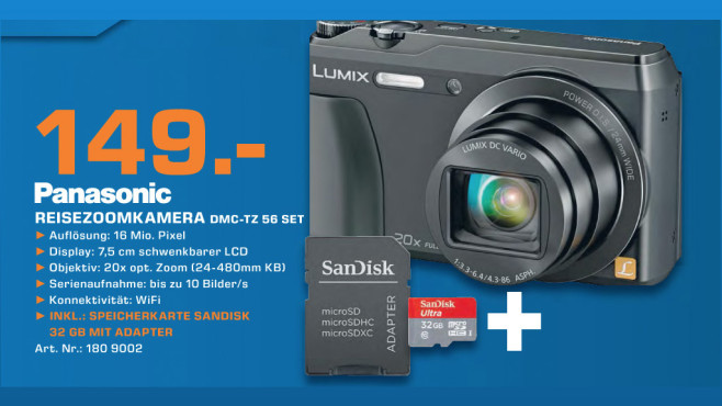 Panasonic Lumix DMC-TZ56 © Saturn