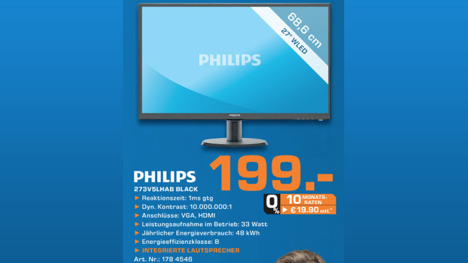 Philips 273V5LHAB Black © Saturn
