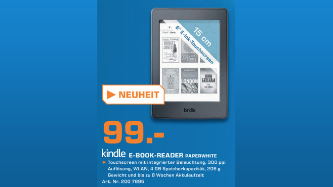Kindle Paperwhite WiFi (2015) © Saturn