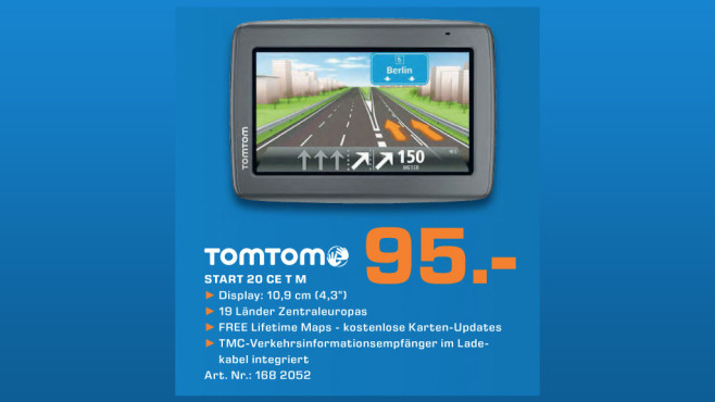 TomTom Start 20 M Central Europe Traffic © Saturn