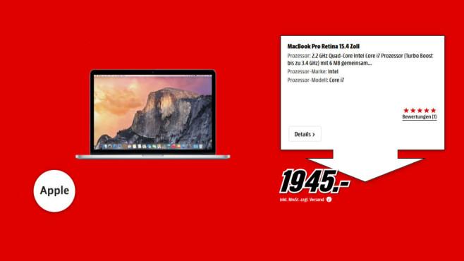 "Apple MacBook Pro 15"" Retina ©Media Markt"