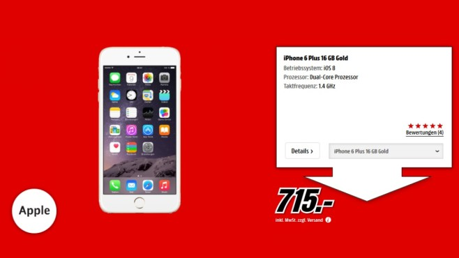 Apple iPhone 6 Plus 16GB © Media Markt
