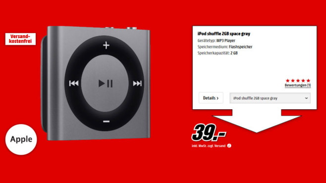 Apple iPod shuffle 4G 2GB ©Media Markt