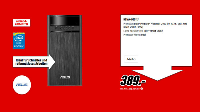 Asus K31AN-DE011S ©Media Markt