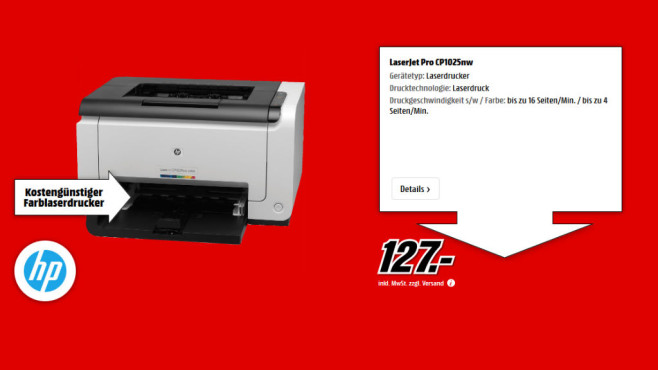 HP Color Laserjet Pro CP1025NW ©Media Markt