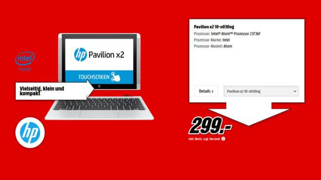 HP Pavilion 10-n030ng x2 ©Media Markt